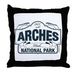 Arches National Park V. Blue Throw Pillow