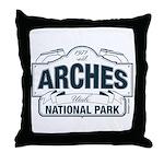 Arches National Park V. Blue Throw Pillow