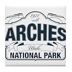 Arches National Park V. Blue Tile Coaster