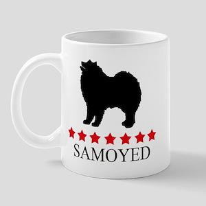 Samoyed (red stars) Mug