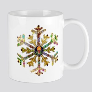 Sparkly Art Snowflake Mug