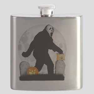 Gone Halloween Squatchin' Flask
