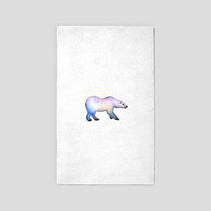 Polar Bear winter Christmas Card, W 3'x5' Area Rug