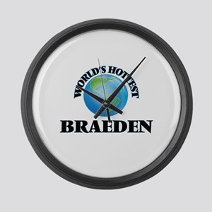 World's Hottest Braeden Large Wall Clock