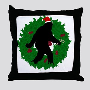Gone Christmas Squatchin'  Throw Pillow