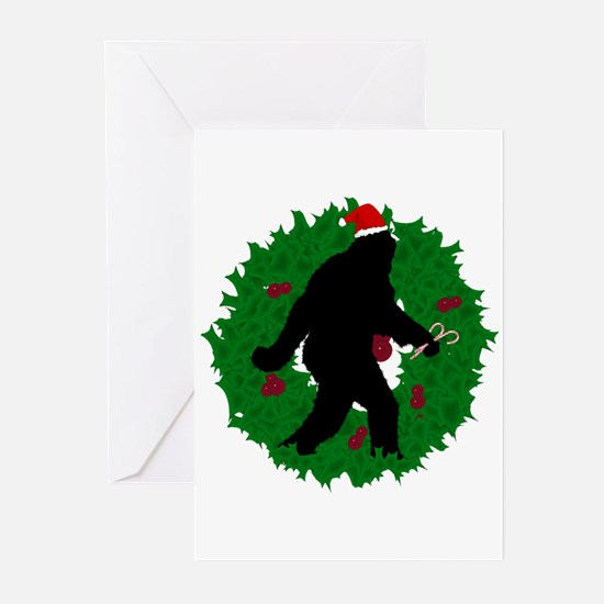 Gone Christmas Squatchin' Greeting Cards