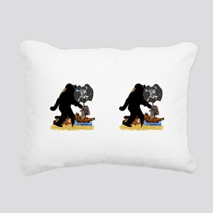 Gone Squatchin' Fer Buri Rectangular Canvas Pillow