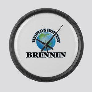 World's Hottest Brennen Large Wall Clock