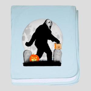 Gone Halloween Squatchin' baby blanket