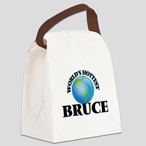 World's Hottest Bruce Canvas Lunch Bag