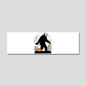Gone Halloween Squatchin' Car Magnet 10 x 3