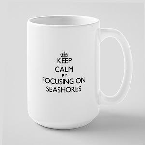 Keep Calm by focusing on Seashores Mugs