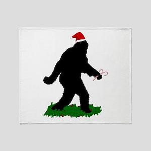 Gone Christmas Squatchin' Throw Blanket
