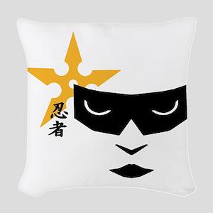 Ninja Mask Woven Throw Pillow