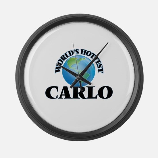 World's Hottest Carlo Large Wall Clock