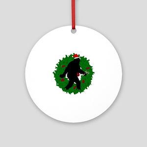 Gone Christmas Squatchin' Ornament (Round)