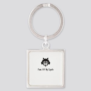 Paws Off My Coyote Keychains