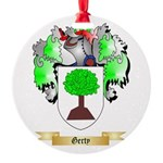 Gerty Round Ornament