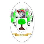 Gerty Sticker (Oval 10 pk)
