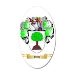 Gerty 35x21 Oval Wall Decal