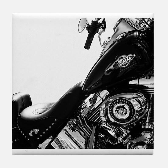 Harley - White Backgroung Tile Coaster