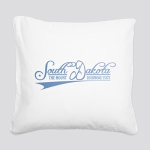 South Dakota State of Mine Square Canvas Pillow