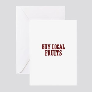 buy local fruits Greeting Cards (Pk of 10)