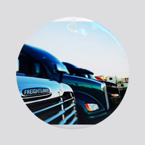 Freightliner 2 Ornament (Round)