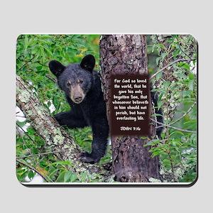 Baby Bear - John 3:16 Mousepad