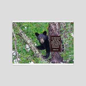 Baby Bear - John 3:16 5'x7'Area Rug