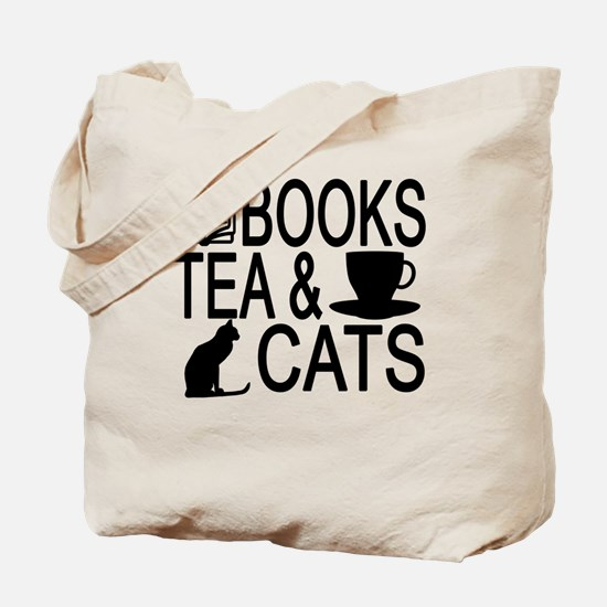 Cats books Tote Bag