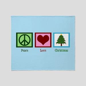 Christmas Baby Blue Throw Blanket