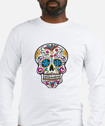 Funny Day of the dead skull Long Sleeve T-Shirt