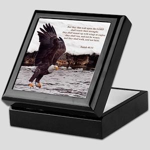 ISAIAH 40:31 WINGED EAGLES Keepsake Box