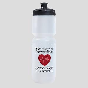 cute enough skilled enough Sports Bottle