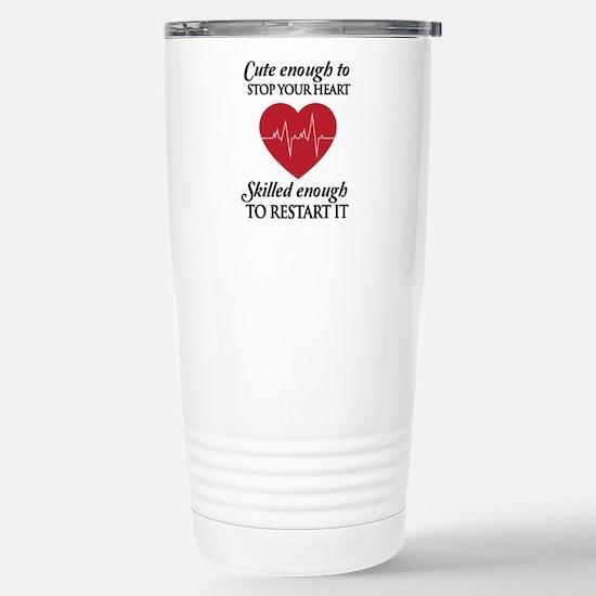 cute enough skilled enough Travel Mug
