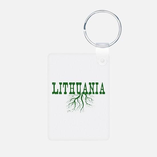 Lithuania Roots Aluminum Photo Keychain