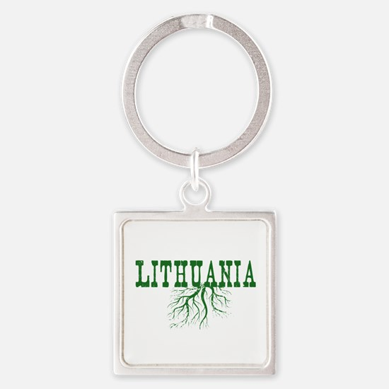 Lithuania Roots Square Keychain