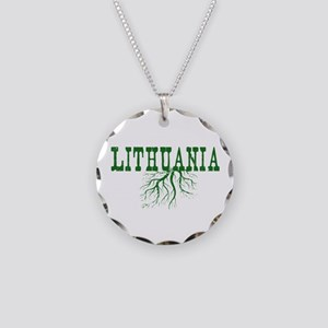 Lithuania Roots Necklace Circle Charm