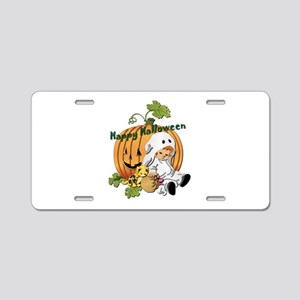 Halloween Dreams Aluminum License Plate