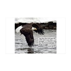 Wings of Eagles with Isaiah 40:31 Wall Decal