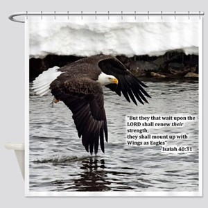 Wings Of Eagles With Isaiah 4031 Shower Curtain