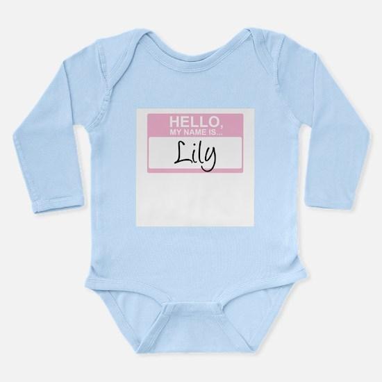 Cute Hello my name is skyler Long Sleeve Infant Bodysuit
