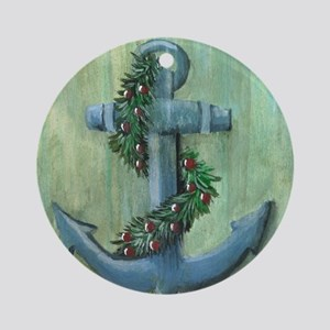 Anchor and Garland Ornament (Round)