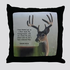 Return Unto Me Buck - Isaiah 44:22 Throw Pillow