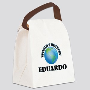 World's Hottest Eduardo Canvas Lunch Bag