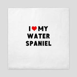 I LUV MY WATER SPANIEL Queen Duvet