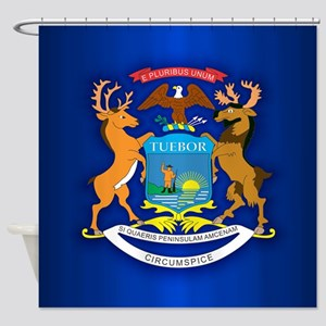 Michigan (v15b) Shower Curtain