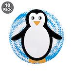 Penguin on Blue White Swirl 3.5