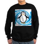 Penguin on Blue White Swirl Sweatshirt
